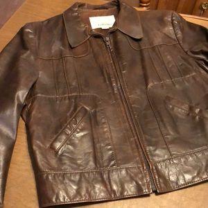 Angel Skin Nappa Leather VTG Moto Riding Jacket 42
